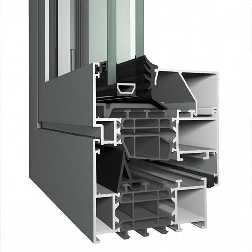Systèmes de fenêtres Softline 82 mm
