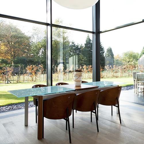 MUR RIDEAU CW 50 façade en verre