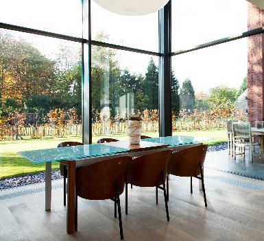 Mur rideau baies vitrées salon