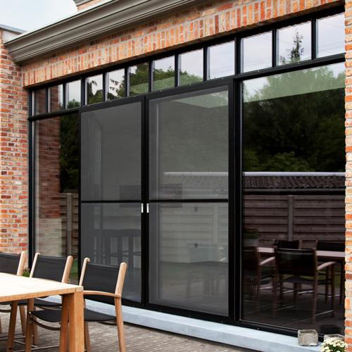 moustiquaires pour fenêtres en aluminium, PVC et bois