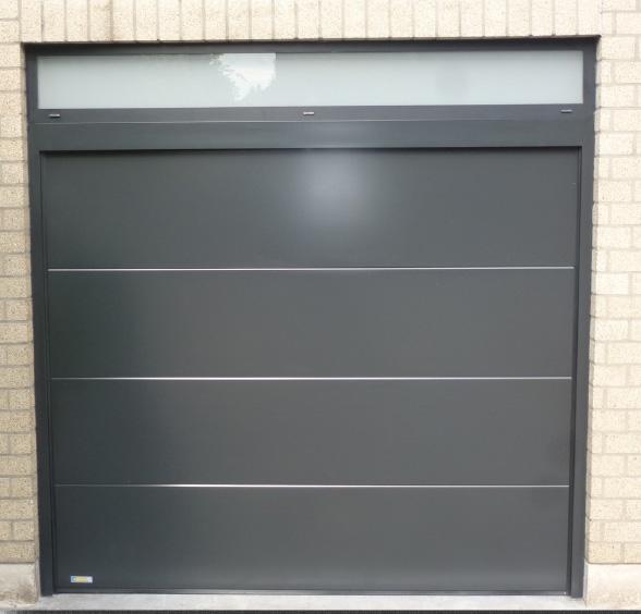 Porte de garage laquée