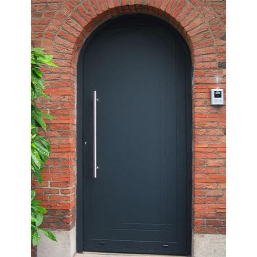 Porte d'entrée grise aluminium