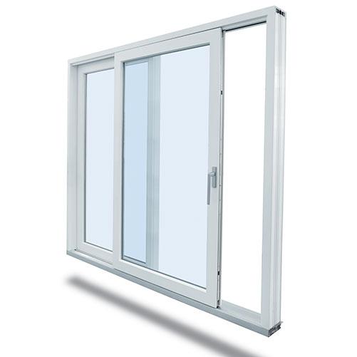 porte coulissante aluminium grise