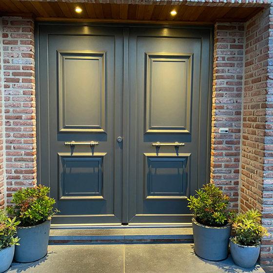 Porte entrée PVC couleur