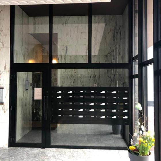 Porte immeuble aluminium Anderlecht