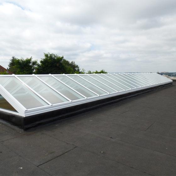 Verrière en toiture aluminium Bruxelles